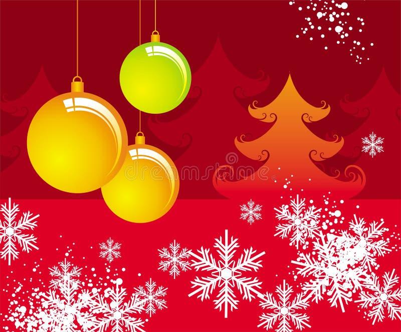 Diseño de la Navidad ilustración del vector