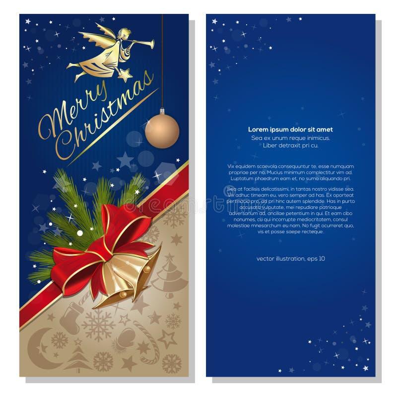 Diseño de la Navidad E stock de ilustración