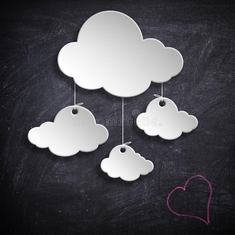 Diseño de la nube fotos de archivo