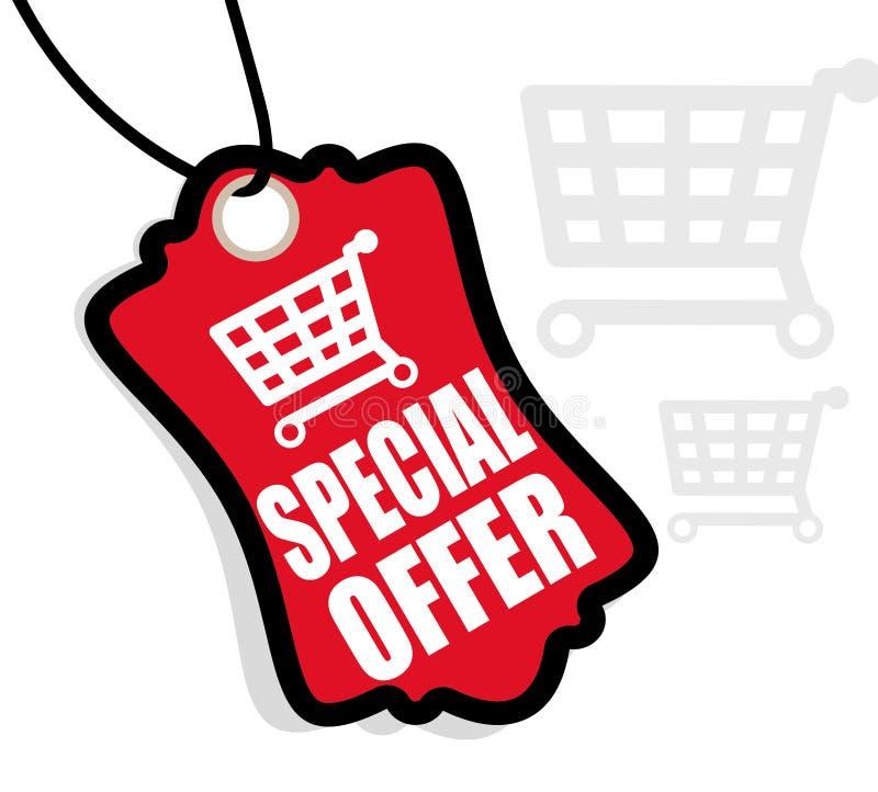 Diseño de la oferta especial stock de ilustración