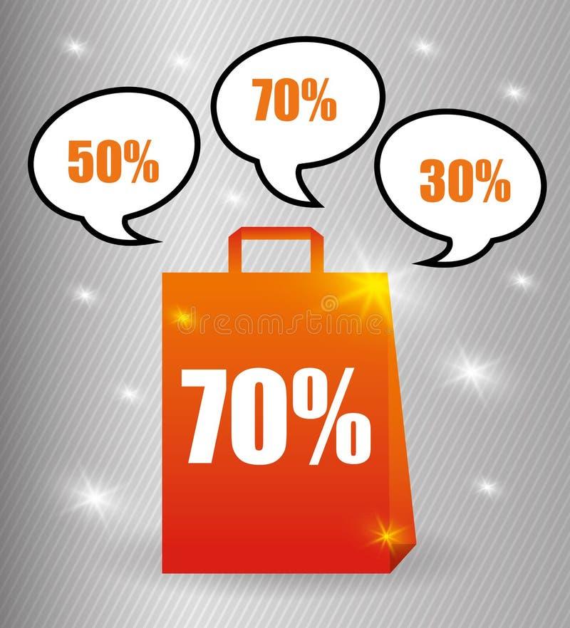 Diseño de la oferta especial ilustración del vector