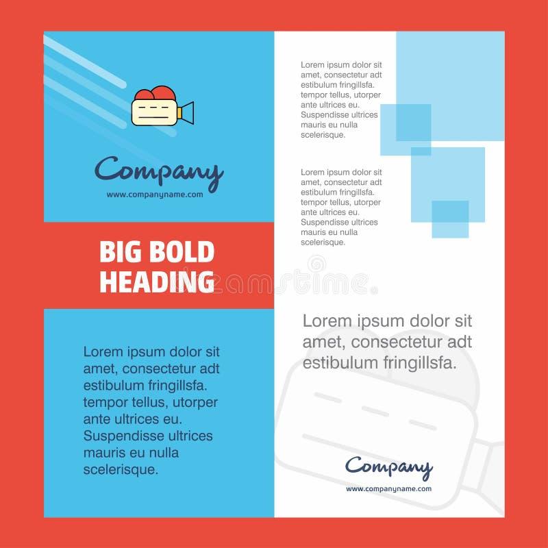 Diseño de la página de título del folleto de Camcoder Company r ilustración del vector
