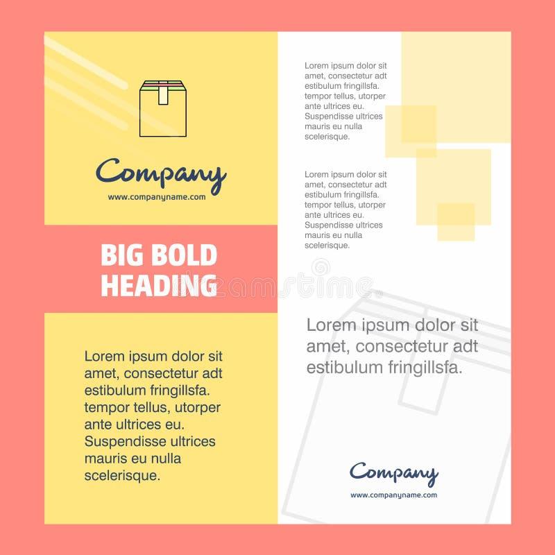 Diseño de la página de título del folleto de Database Company r ilustración del vector
