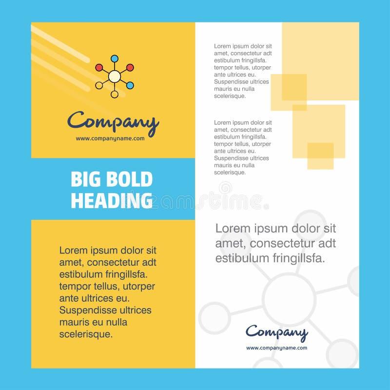 Diseño de la página de título del folleto de Network Company r libre illustration