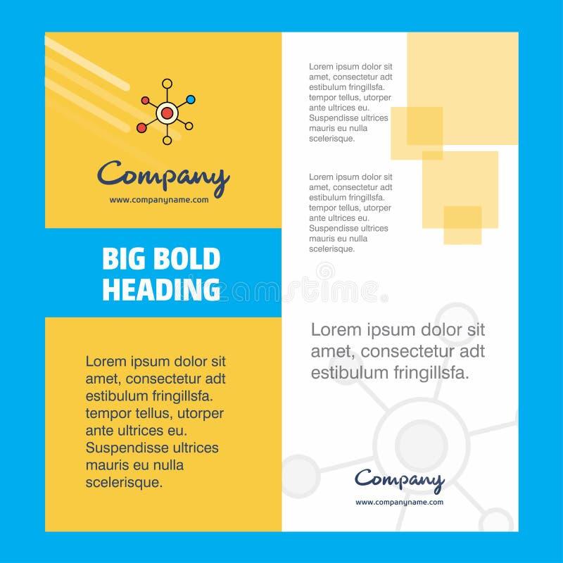 Diseño de la página de título del folleto de Network Company r stock de ilustración