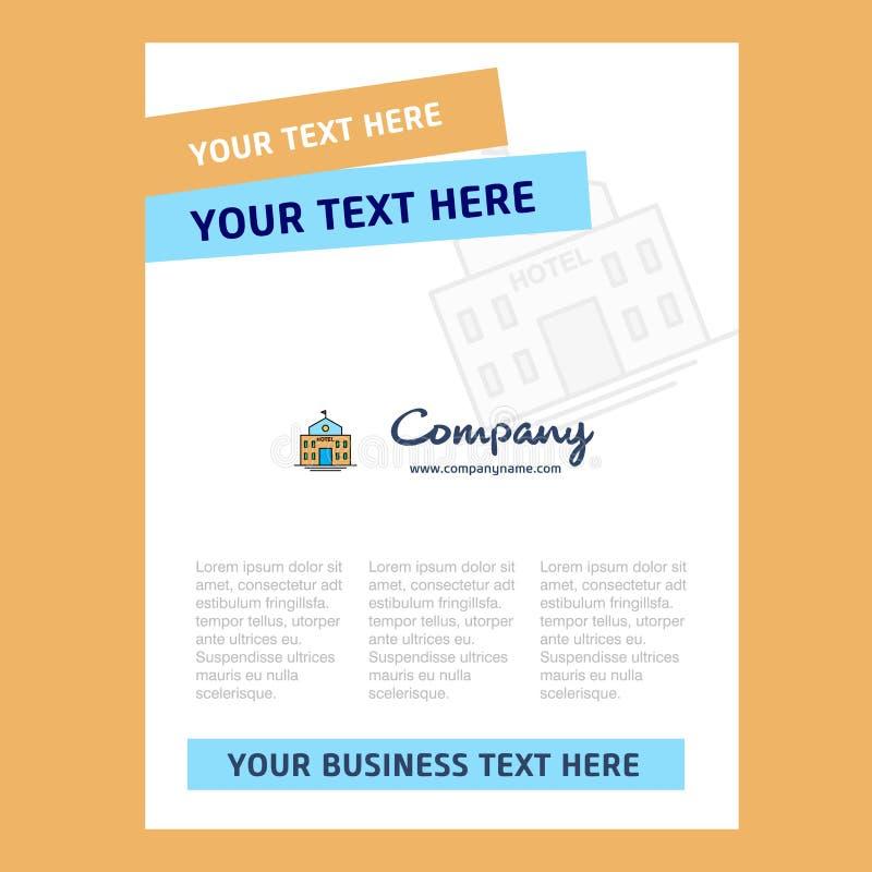 Diseño de la página de título del hotel para el perfil de compañía, informe anual, presentaciones, prospecto, fondo del vector de libre illustration