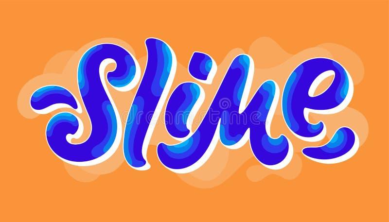 Diseño de la palabra del limo libre illustration