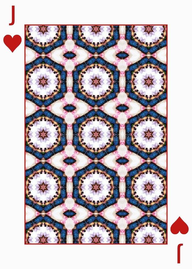 Diseño de la parte posterior de naipe con el mosaico de la teja en el estilo ruso libre illustration