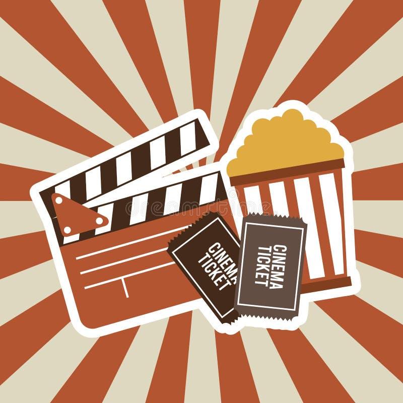 Diseño de la película del cine stock de ilustración