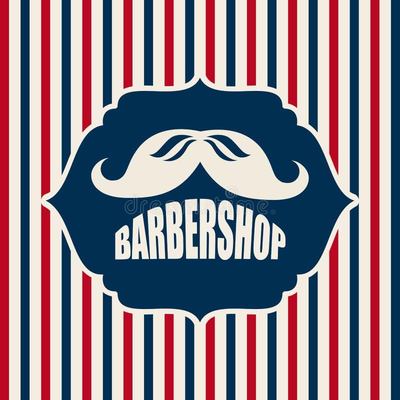Diseño de la peluquería de caballeros stock de ilustración
