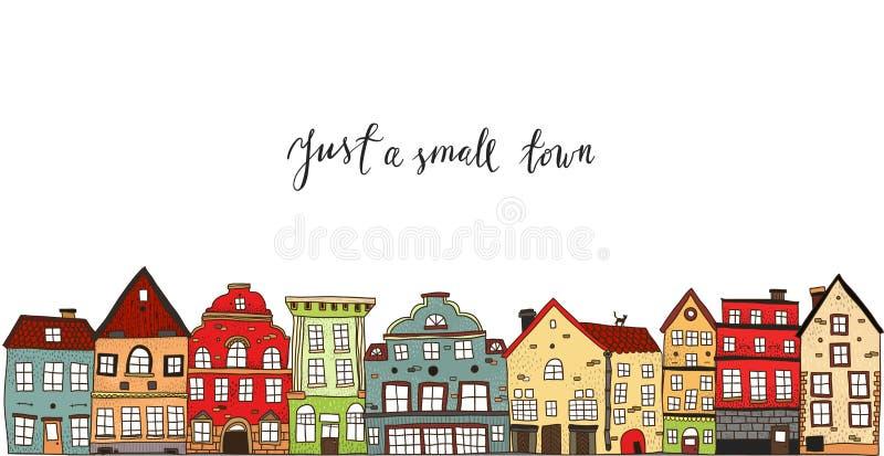 Diseño de la pequeña ciudad libre illustration