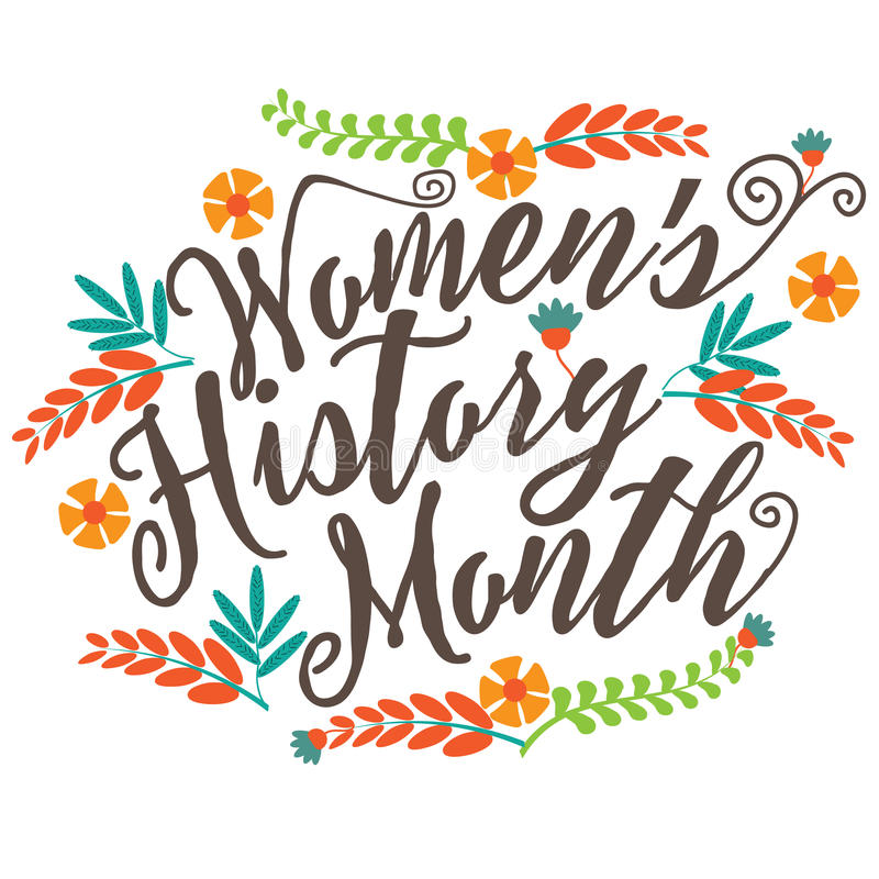 Diseño de la pizarra del mes de la historia de las mujeres ilustración del vector
