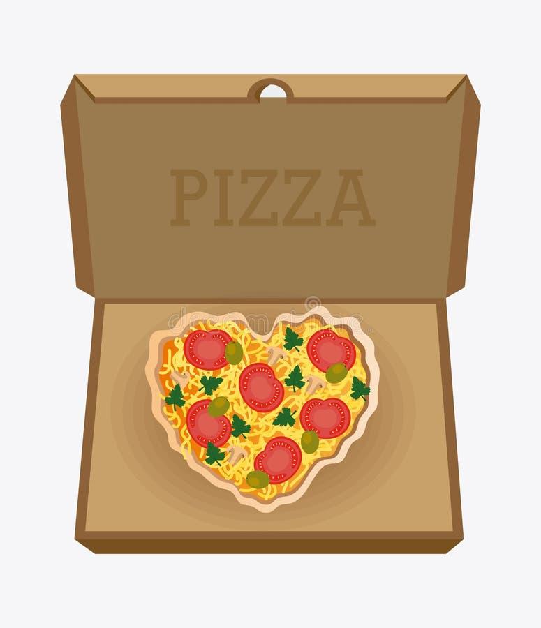 Diseño de la pizza, ejemplo del vector ilustración del vector