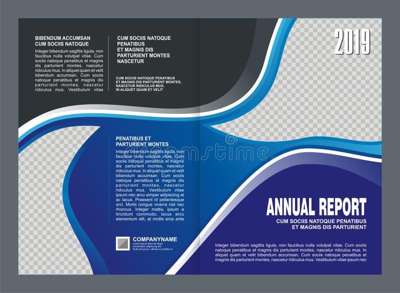 Diseño de la plantilla de la cubierta del informe anual stock de ilustración