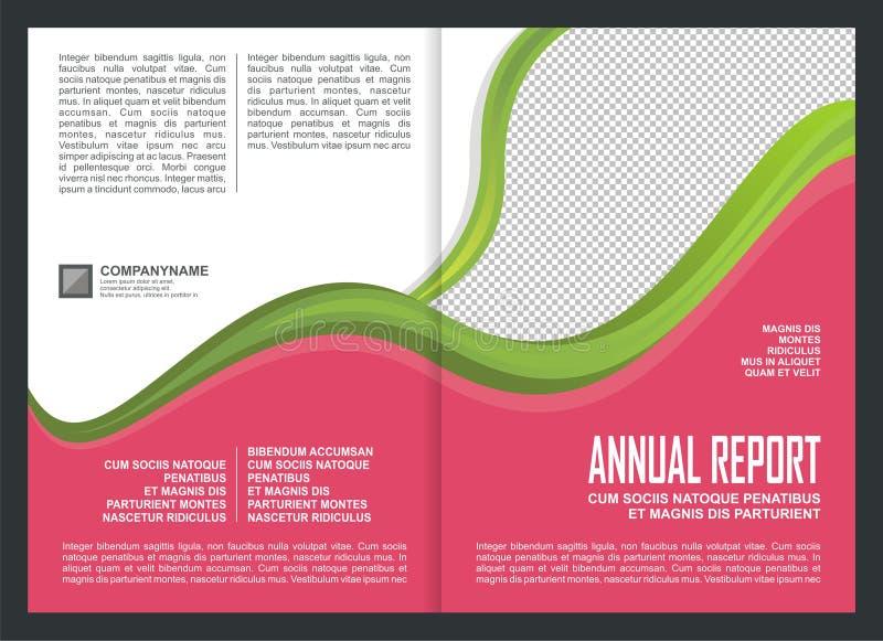 Diseño de la plantilla de la cubierta del informe anual ilustración del vector