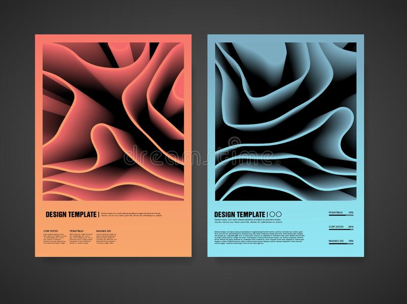 Diseño de la plantilla de cubiertas modernas con un contexto del modelo abstracto Disposición con el fondo del elemento del color stock de ilustración