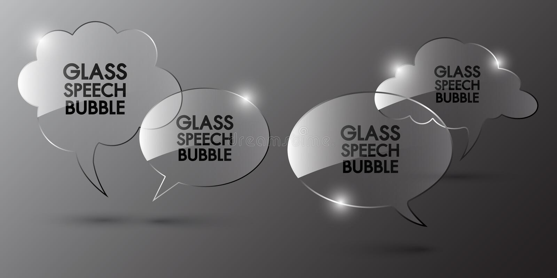 Diseño de la plantilla de la burbuja del discurso ilustración del vector