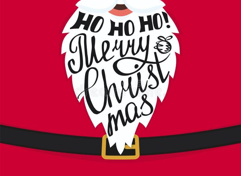 Diseño de la plantilla de la tarjeta de felicitación de la Feliz Navidad ilustración del vector