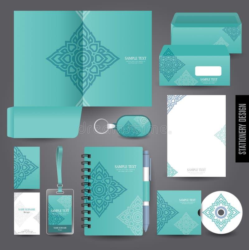 Diseño de la plantilla de los efectos de escritorio stock de ilustración