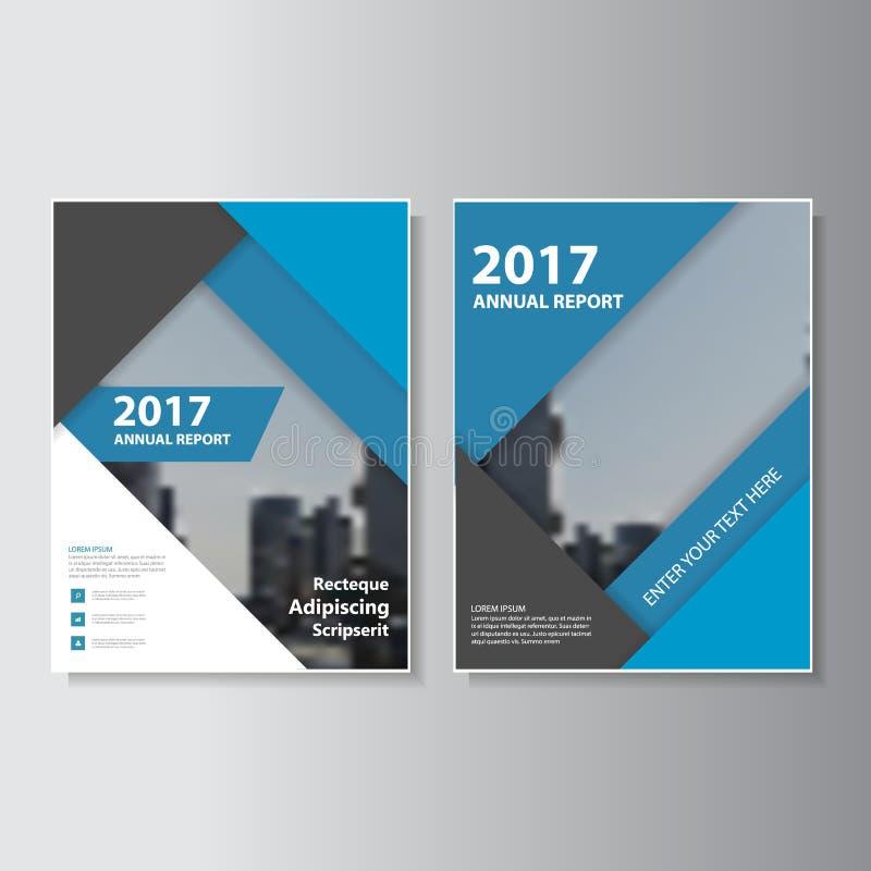 Diseño de la plantilla del aviador del folleto del prospecto del informe anual del vector del negro azul, diseño de la disposició stock de ilustración
