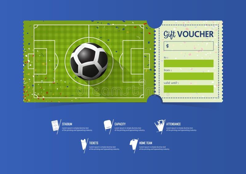 Diseño De La Plantilla Del Boleto Del Fútbol O Del Fútbol Para El ...