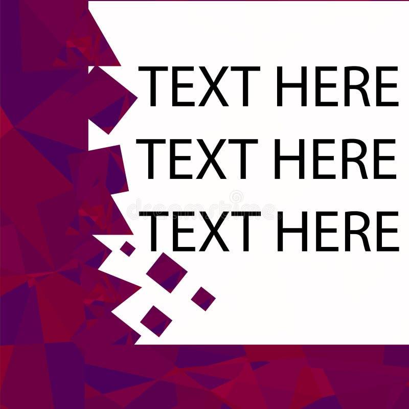 Diseño de la plantilla del folleto con los elementos del triángulo del poligonal Diseño de la cubierta de la plantilla del extrac stock de ilustración