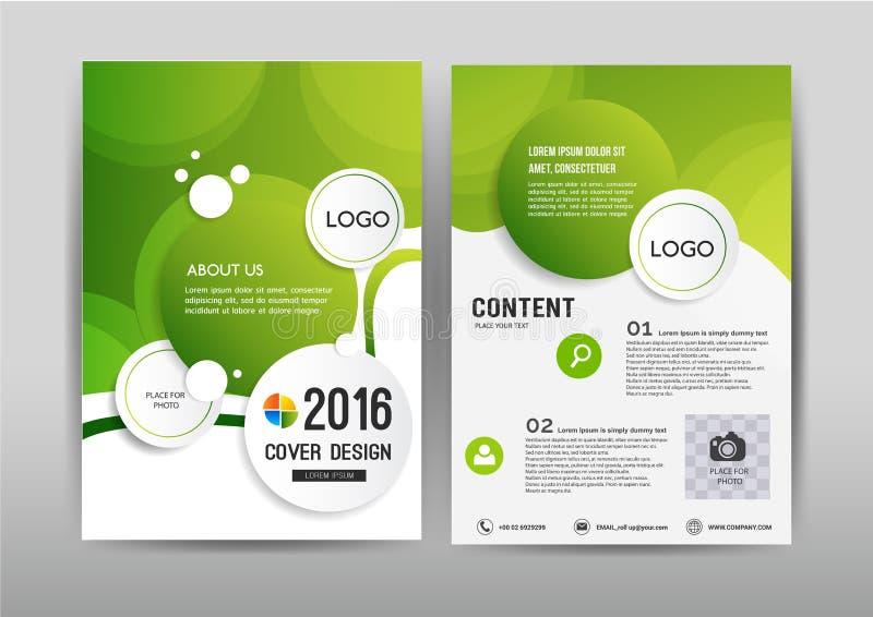 Diseño de la plantilla del folleto del negocio Disposición de la cubierta para el informe anual libre illustration