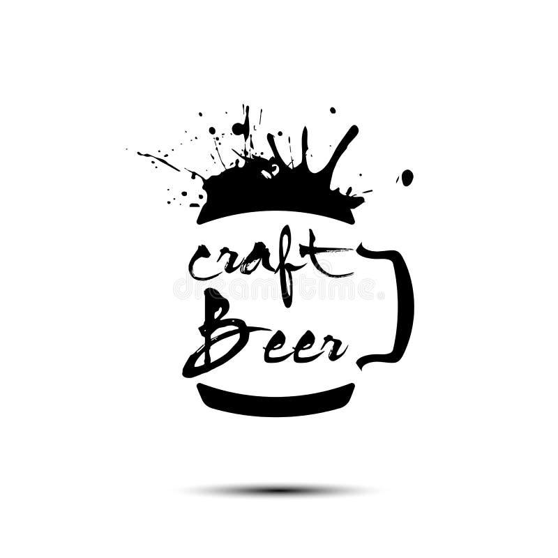 Diseño de la plantilla del logotipo del arte de la cerveza ilustración del vector
