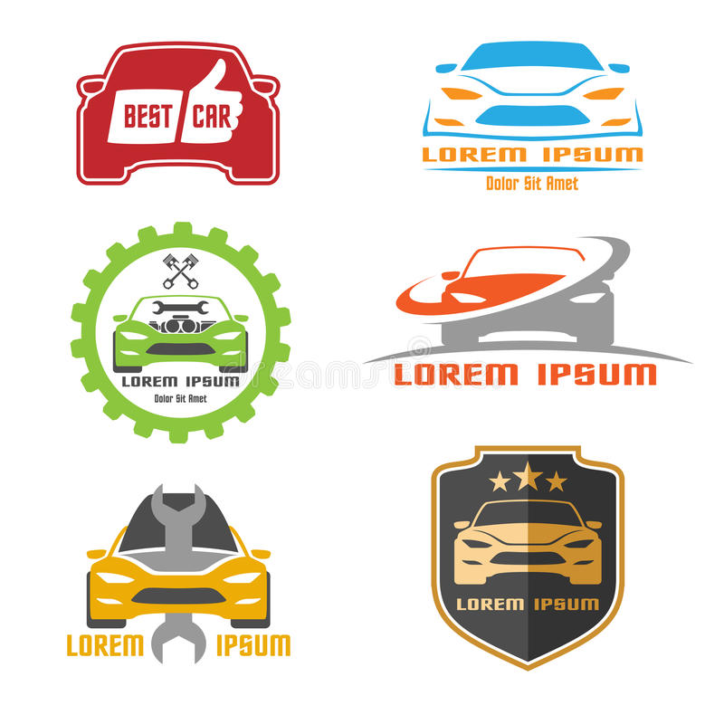 Diseño de la plantilla del logotipo del coche stock de ilustración
