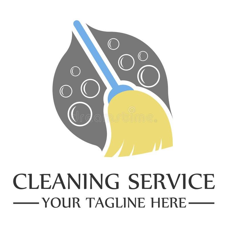Diseño de la plantilla del logotipo del servicio de la limpieza ilustración del vector
