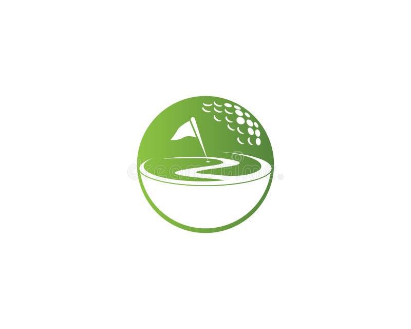 Diseño de la plantilla del logotipo del icono del campo del golf stock de ilustración