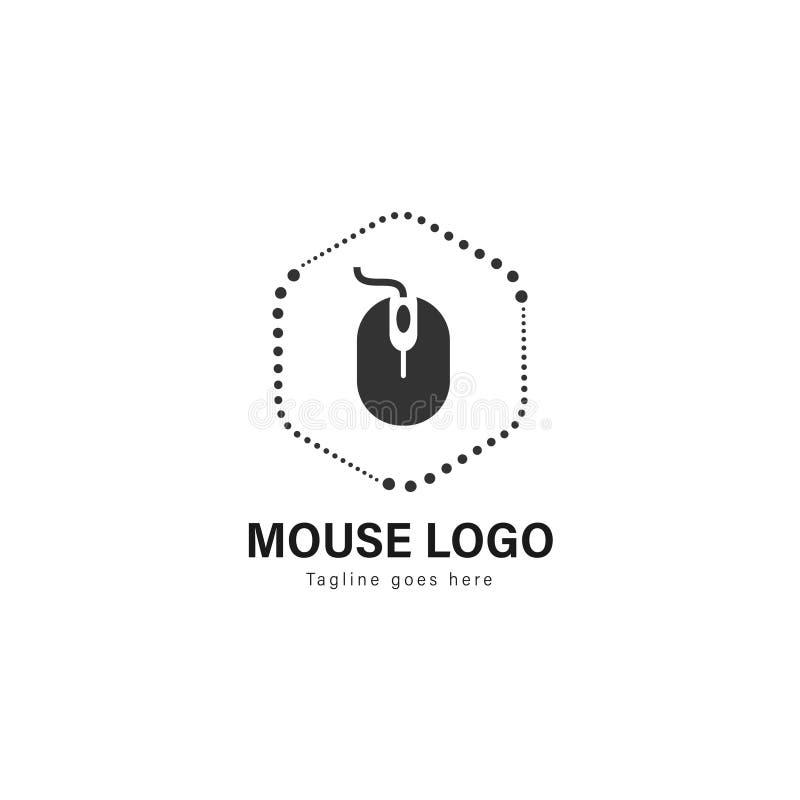 Diseño de la plantilla del logotipo del ordenador Logotipo del ordenador con el marco moderno aislado en el fondo blanco libre illustration