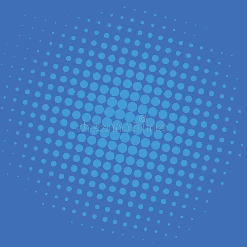 Diseño de la plantilla del vector de Art Blue Dots Comic Background del estallido stock de ilustración