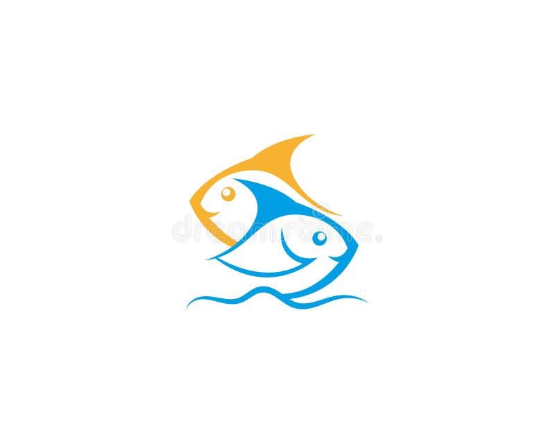 Diseño de la plantilla del vector del ejemplo del icono de los pescados libre illustration
