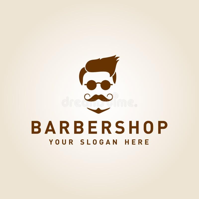 Diseño de la plantilla del vector del logotipo de la barbería del vintage ilustración del vector