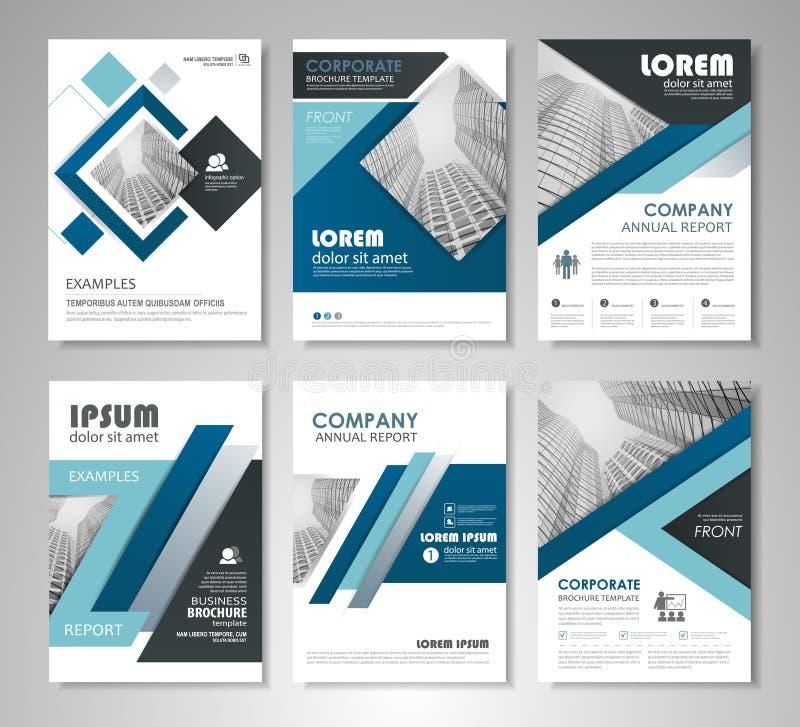Diseño de la plantilla de los folletos y de los aviadores ilustración del vector