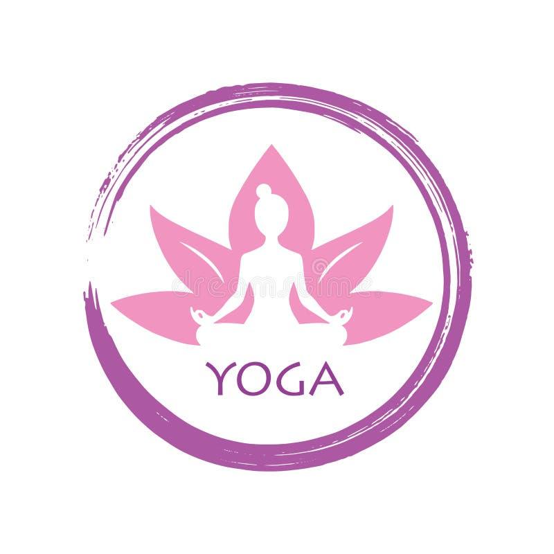 Diseño De La Plantilla De Lotus Yoga Zen Vector Logo Ilustración del ...