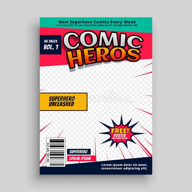Diseño de la plantilla de la página de la revista del cómic libre illustration