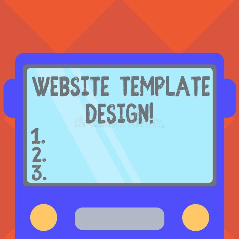 Diseño de la plantilla de la página web de la escritura del texto de la escritura Significado del concepto que escribe un conteni libre illustration
