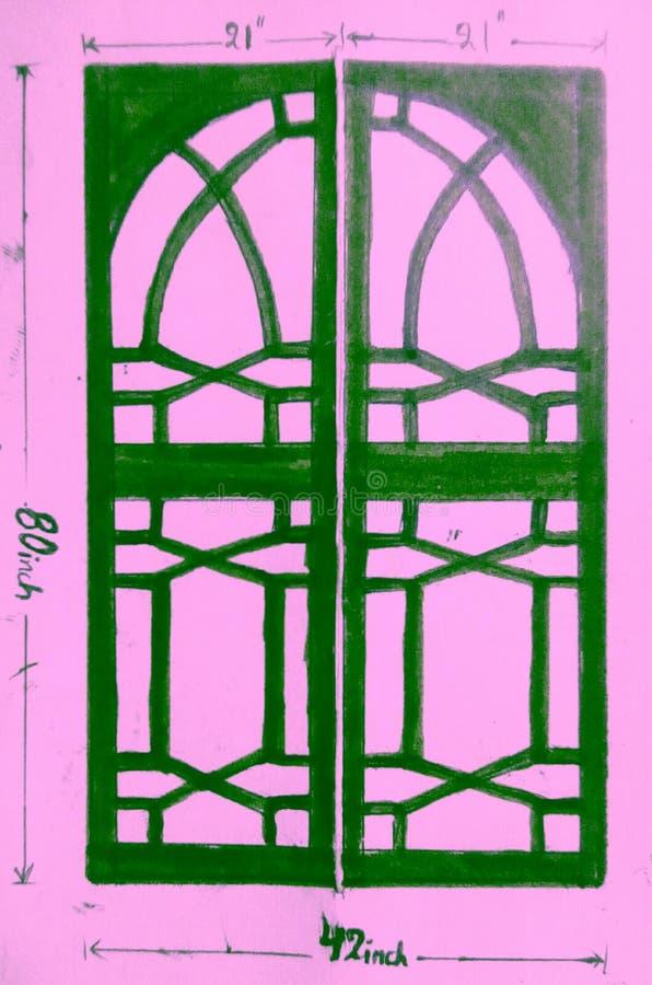 Diseño de la puerta imagen de archivo