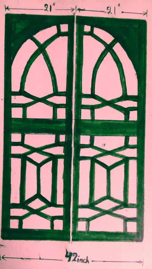 Diseño de la puerta imagen de archivo libre de regalías
