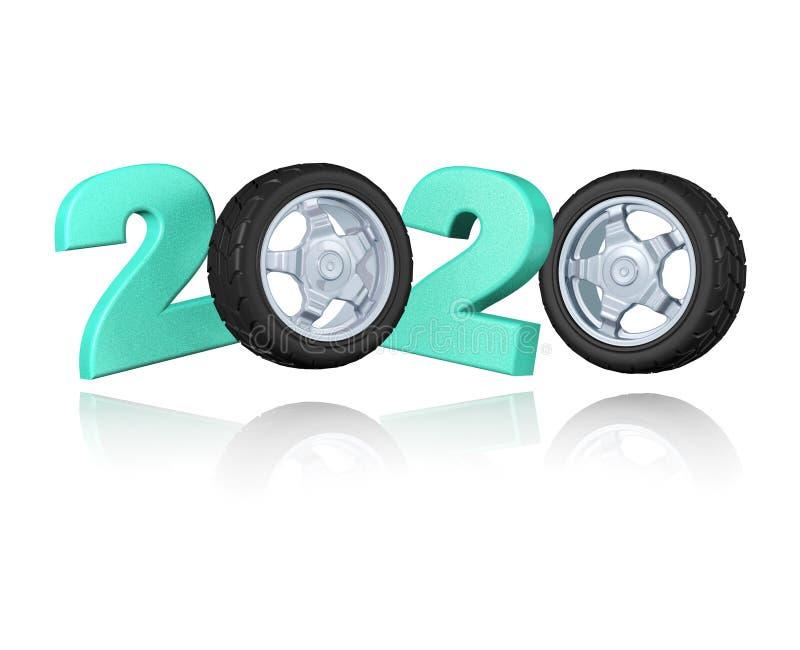 Diseño de la rueda 2020 del deporte ilustración del vector