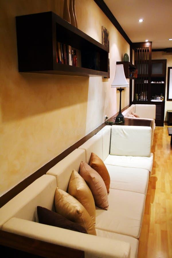 Diseño de la sala de estar foto de archivo libre de regalías