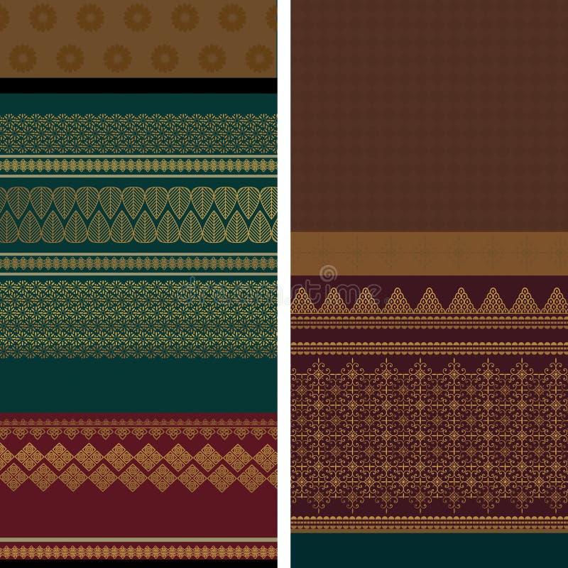 Diseño de la sari stock de ilustración
