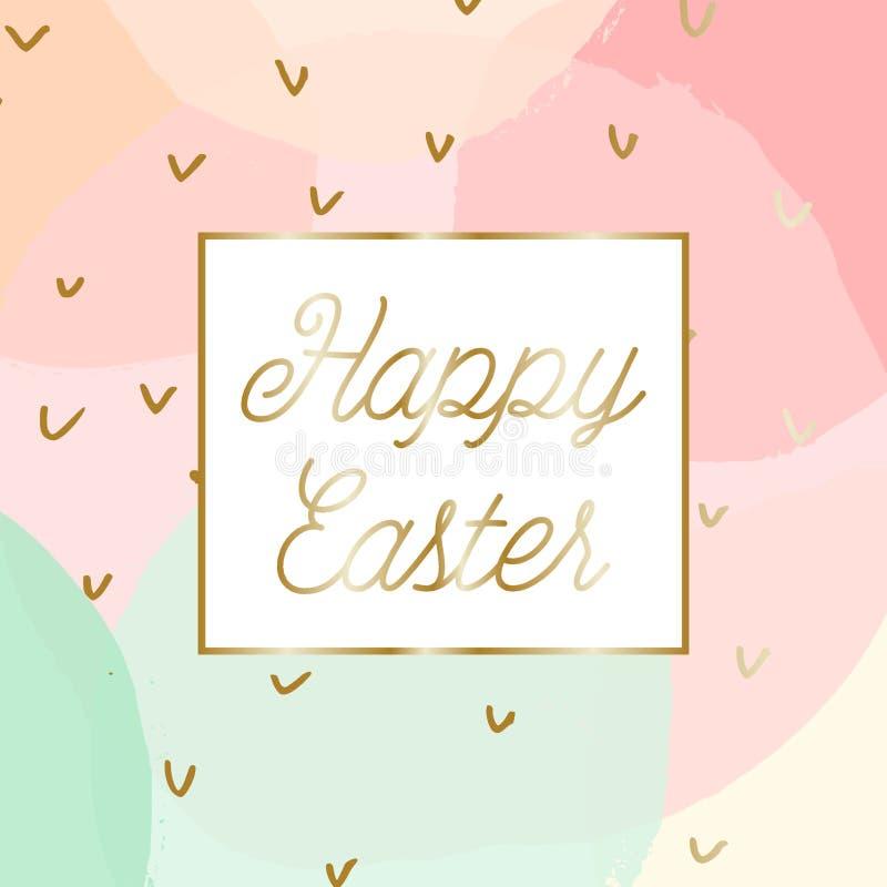 Diseño de la tarjeta de felicitación de Pascua stock de ilustración