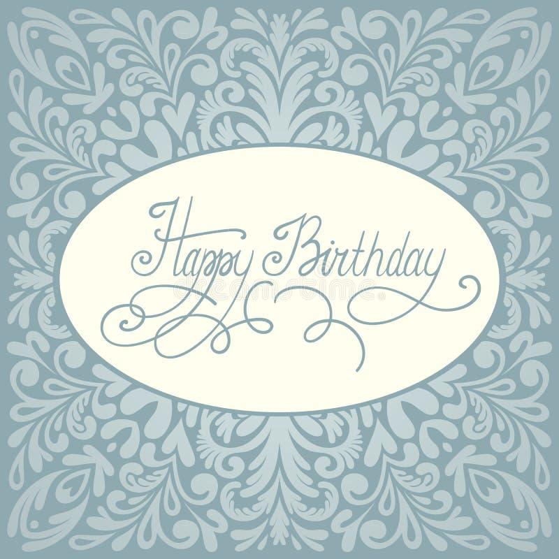 Diseño de la tarjeta de felicitación del feliz cumpleaños ilustración del vector