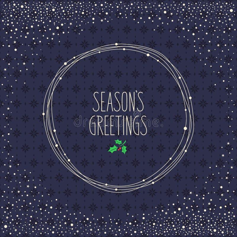 Diseño de la tarjeta de Navidad libre illustration