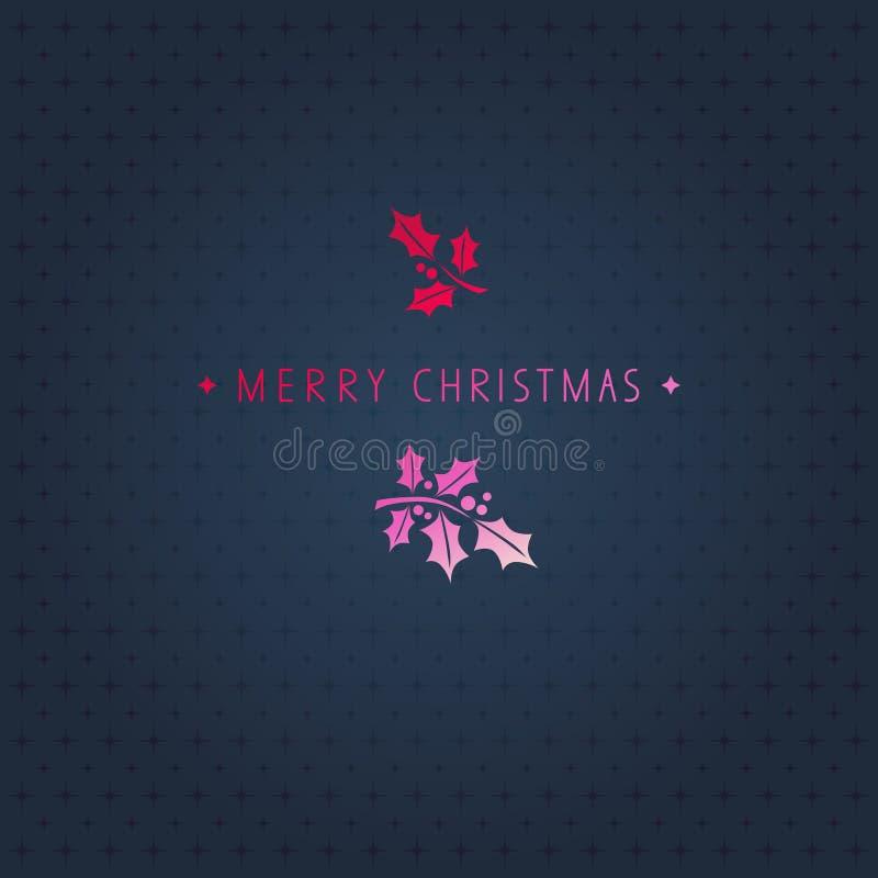 Diseño de la tarjeta de Navidad ilustración del vector