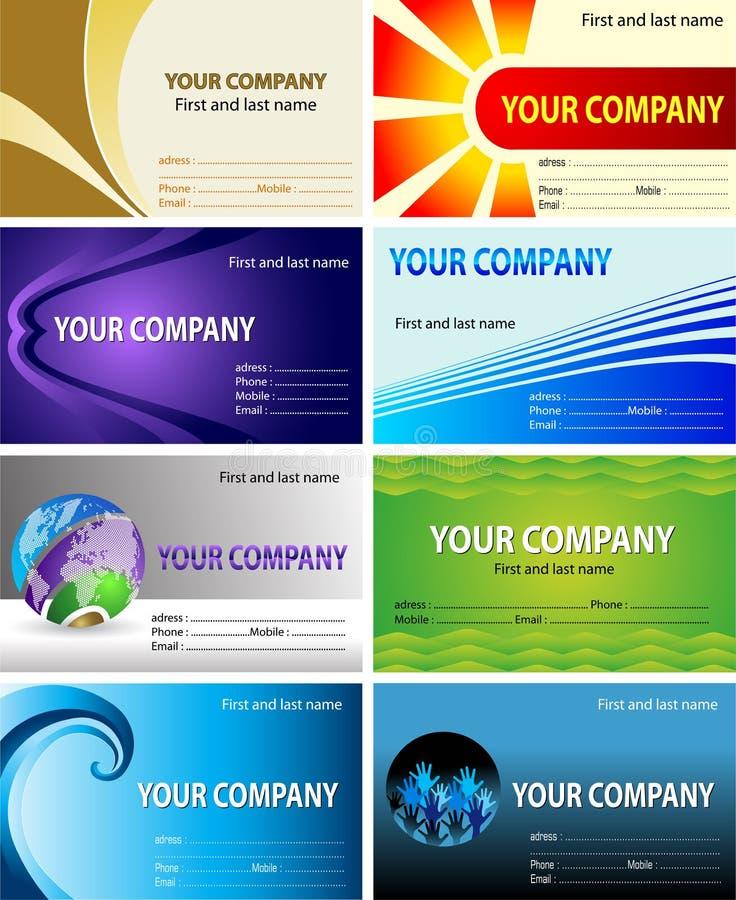 Diseño de la tarjeta de visita stock de ilustración