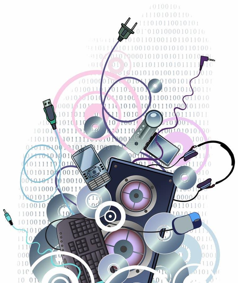 Diseño de la tecnología stock de ilustración